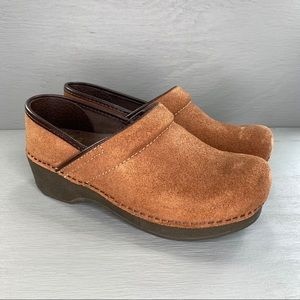 Dansko Brown Leather Suede Clog